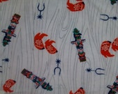 1950's Flannel Children's Fabric (cowboy boots , totem pole and horse shoes)