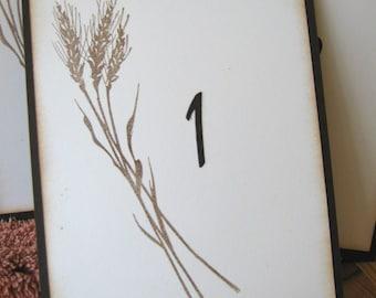 Fall, Autumn Harvest Wheat Wedding Table Numbers, Fall Table Numbers, Autumn Table Numbers