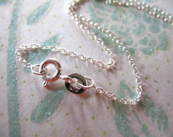"""Shop Sale..  1 5 10 pcs, 16 or 18"""", Oval CABLE CHAIN, Sterling Silver Finished Chain Bulk, 1.3 mm, wholesale spring ring clasp done d99.d hp"""