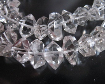 10% Off Sale.. 5 10 25 pcs, Herkimer Diamonds Herkimer Nuggets Herkimer Crystals Double Terminated Briolettes, Luxe AAA, 7-8.5 mm, s crc wf