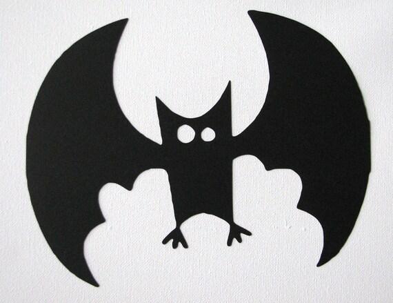 halloween cartoon bat die cut silhouette etsy