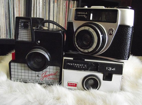 Instant Collection of Midcentury & Mod Vintage Camera Pals