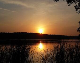 Sunrise Reflections on Cowan Lake 8x10 print