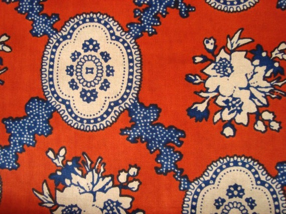 Red china African wax print batik fabric BY THE YARD 100% cotton