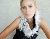Faux Fur Cowl Scarf, Available in Grey and Purple, Gift For Her