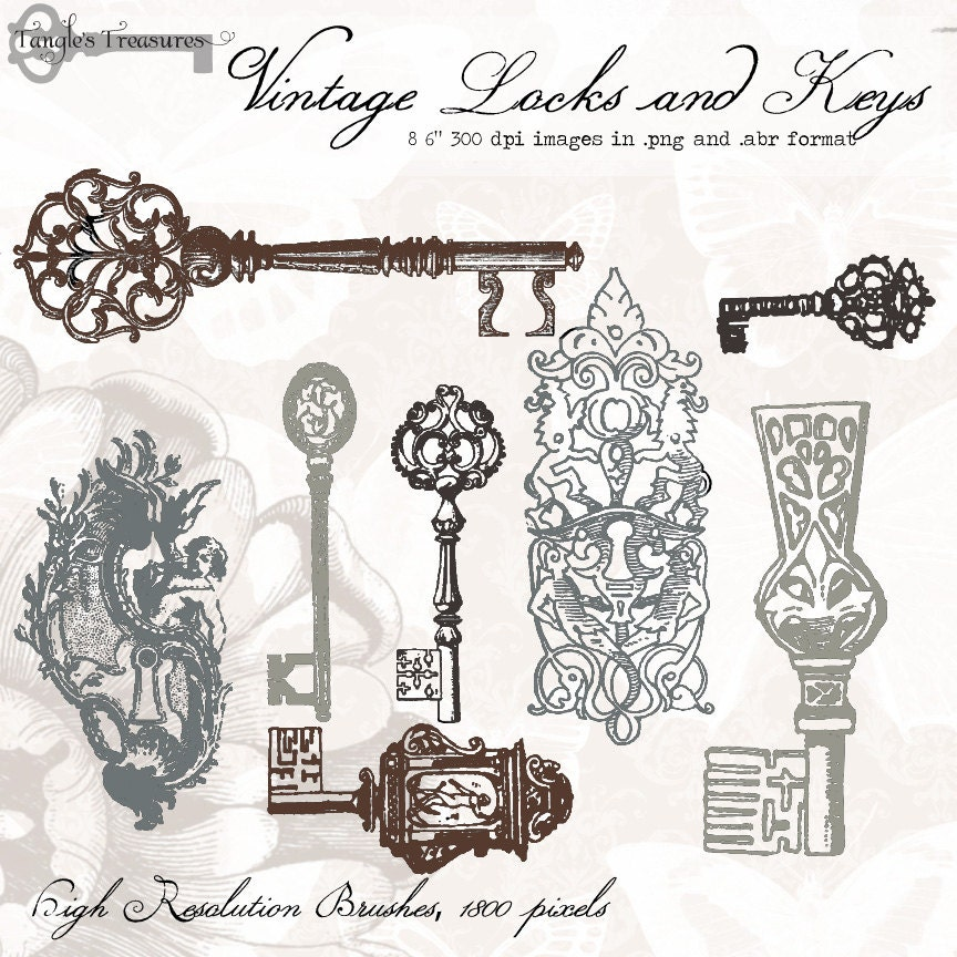 Request a custom order and have something made just for you for Antique key art