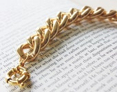 Rounded Chunky Gold Chain Bracelet