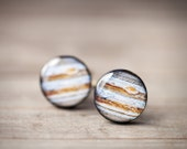 Jupiter Cufflinks - Men cuff links - Space Jewelry - Stripes (C032)
