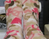 Peace Love and Butterflies Fleece Socks Premium Fabric