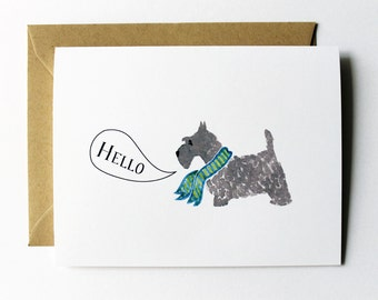 Any Occasion Card - Hello Scottish Terrier Card