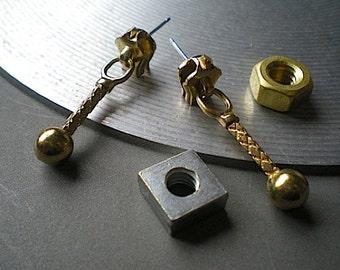 Zippity - industrial hardware earrings