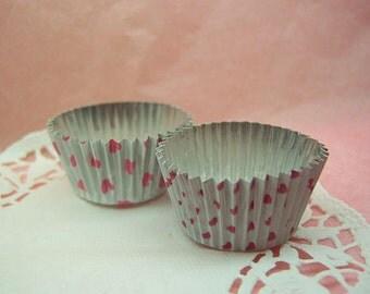 Cute Pink Hearts Duo choco aluminium foil cups (set of 24)