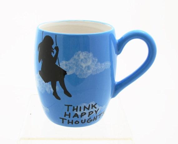 Happy Thoughts Blue Sky Mug