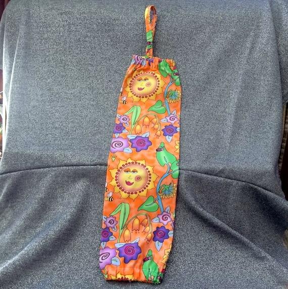 Plastic Bag Holder Sock, Wonderland Gardens Print