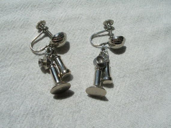 Candle Stick  Telephone Earrings.