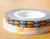 Funtape Masking Tape - Modern & Hydrangea Flowers - 6mm Slim