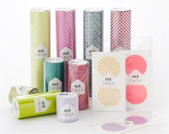 mt casa - Washi Masking Tape - Interior Stickers - 10 designs