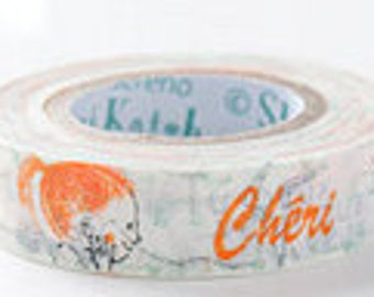 Shinzi Katoh Masking Tape - Cheri Cat - Discontinued