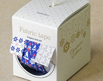 Nuage Fabric Masking Tape - Snow Bell - Christmas Set 3