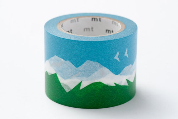 mt Washi Masking Tape - Snowy Mountain - mina perhonen