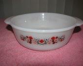Vintage 1 Quart Fire King Casserole Dish In The Primrose Pattern