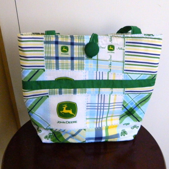 John Deere Diaper Bags : John deere diaper bag blue green by sewingdreamsnotions