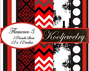 Flamenco 3 Paper Pack 12x12 inch - No.4