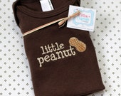 Little Peanut Baby Shirt - Chocolate Brown American Apparel One-Piece Baby Shirt