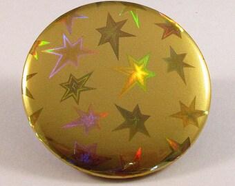 Gold stars pocket mirror