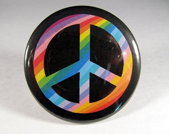 Peace sign pocket mirror 2