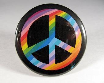 Peace sign pocket mirror 2