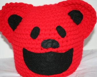 Dancing bears hat in red - fun and unique - great Halloween costume or winter hat