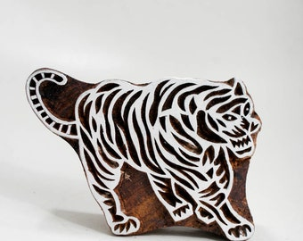 Sale Wood Stamp Tiger 165