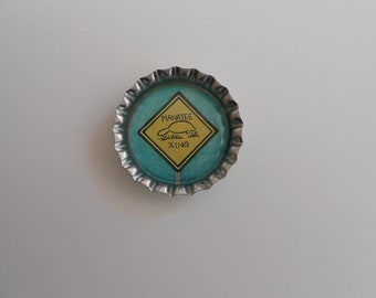 Manatee crossing bottle cap art magnet
