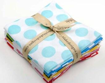 Ombre Dots Fat Quarter Bundle -- 8 fat quarters -- fading dots -- Riley Blake