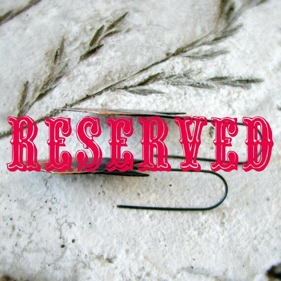 RESERVED for Alyce
