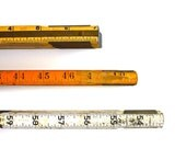 Inch by Inch - Vintage Wooden Folding Rulers