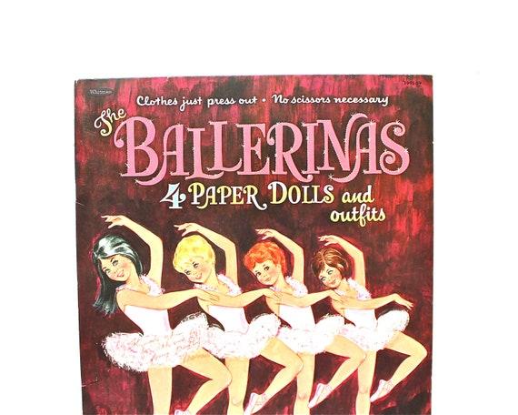 Dress Them Up - Vintage 1967 Whitman Ballerina Paper Doll Set