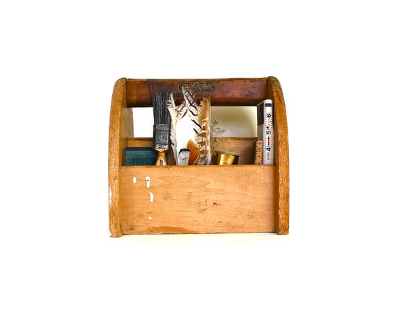 He Was a Shoeshiner - Vintage Shoe Shine Box, Vintage Lyco Groomer, Vintage Wooden Box