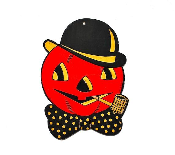 Mr. Jack O Lantern - Vintage Beistle Decoration - Vintage Halloween Decoration