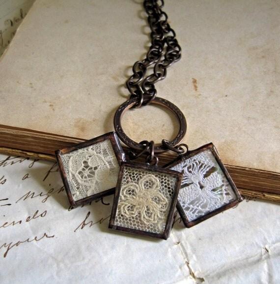 Treasured Dreams Lace Charm Necklace