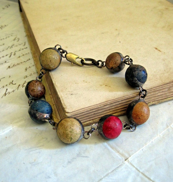 Rustic View Clay Marble Bracelet