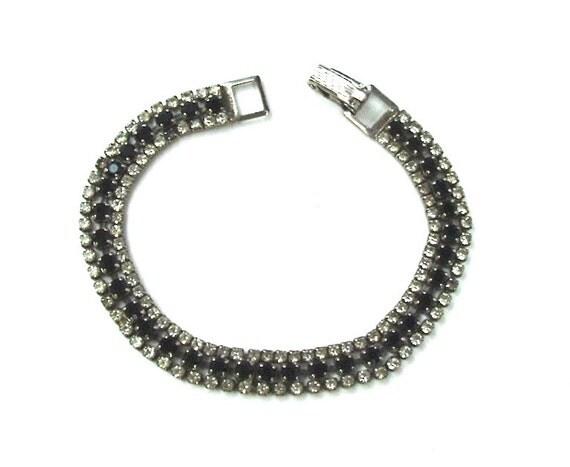 Vintage Rhinestone Bracelet Free US Shipping