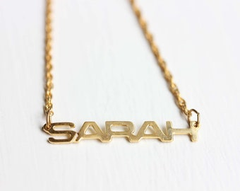 Vintage Name Necklace - Sarah