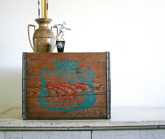 Vintage Wood Crate - Canada Dry