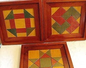 Quilt Blocks In Wood