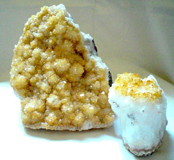 Citrine Geode Clusters, 2 piece Grab Bag, 5 pounds