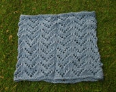 Hand knit lace cowl