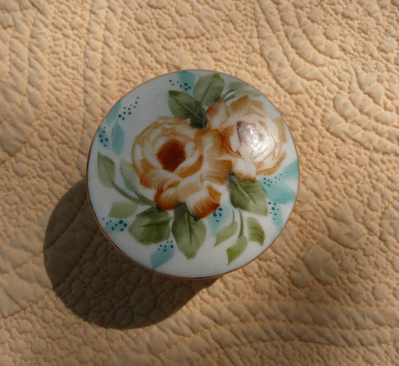 Yellow Rose and Turquoise Ring Box