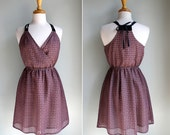 Mauve Geo Crossover Sun Dress - SparrowCollective